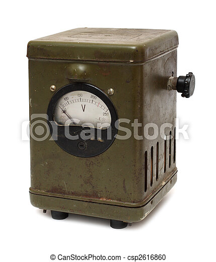 old obsolete electric voltmeter device - csp2616860