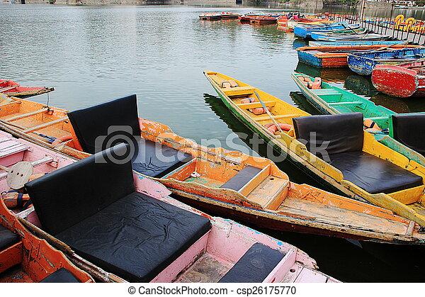 Colorful Tourist Row Boats
