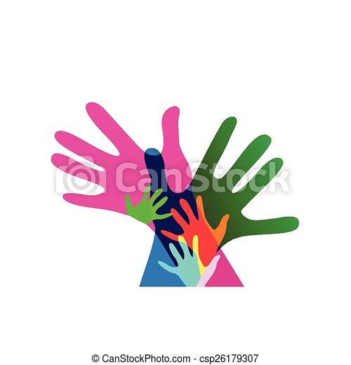 Clipart vecteur de adultes non ensemble transparences - Dessin main enfant ...