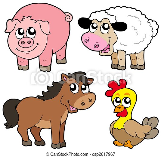 Cute country animals collection - csp2617967