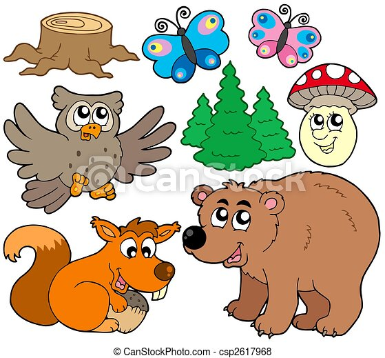 Forest animals collection 3 - csp2617968