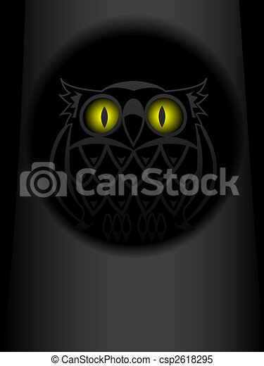 Shone eyes of an owl - csp2618295