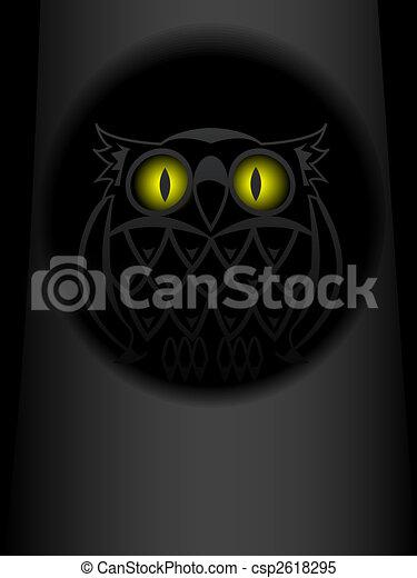 Shone eyes of an owl - csp2618295