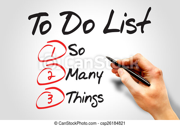 Clip Art of So Many Things in To Do List, business concept ...