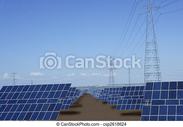 Clean electric energy solar plates generators - csp2618624