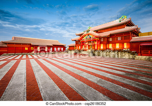 Okinawa, Japan at historic Shuri Castle.