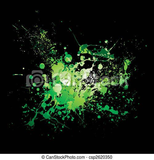 dribble green splat - csp2620350