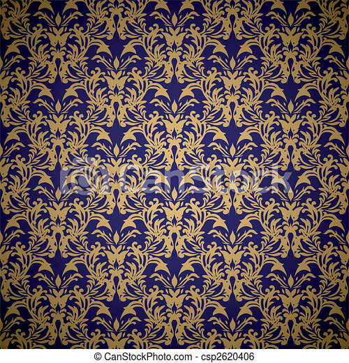 floral royal wallpaper - csp2620406