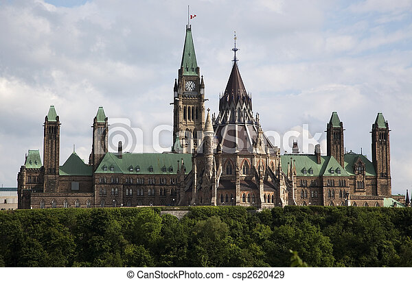 Canadian Parliament in Ottawa - csp2620429