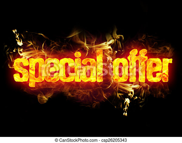 Fire Words Drawing Fire Special Offer Words With