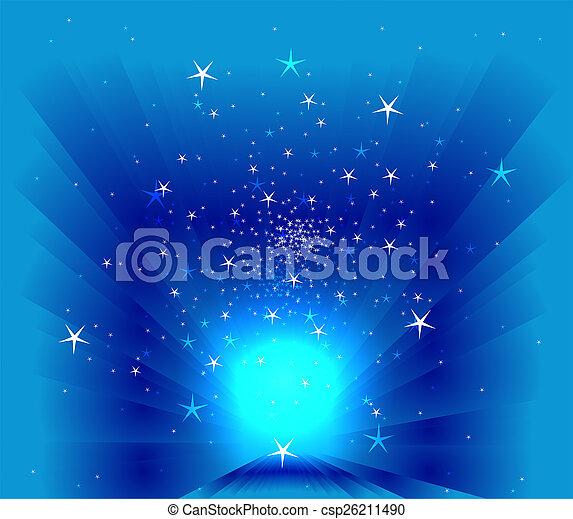 Stars on blur background