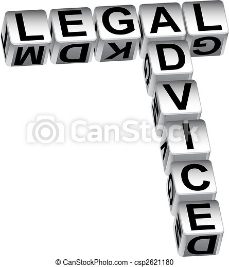 Legal Advice Dice - csp2621180