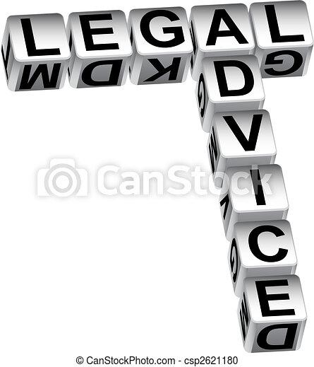 Legal Advice Dice - csp2621180
