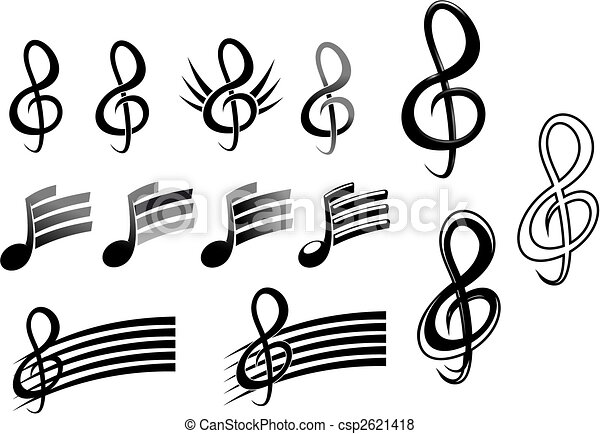 Music keys and notes - csp2621418