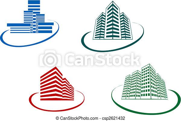 Buildings symbols - csp2621432