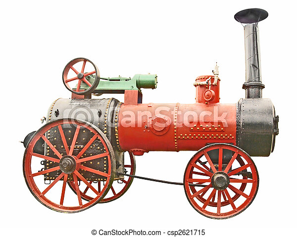 Antique steam tractor - csp2621715
