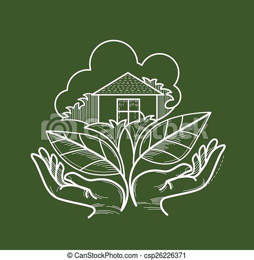 green living symbol - csp26226371