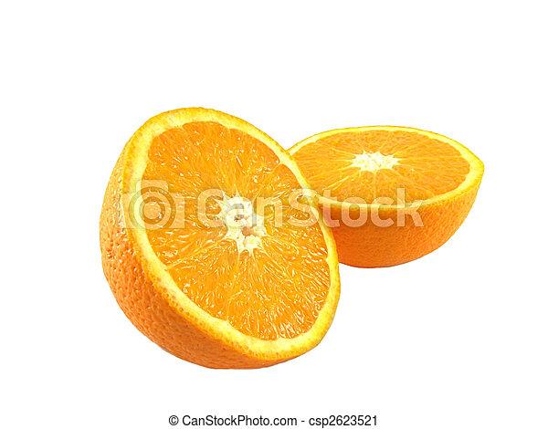 Sliced fresh orange fruit - csp2623521