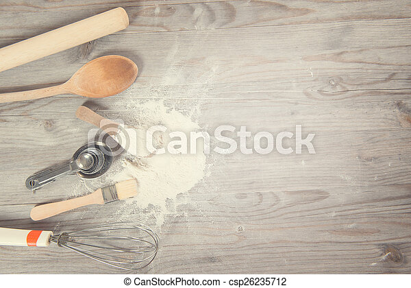 Baking utensils with copy space