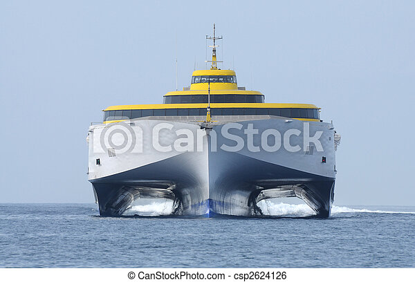 Modern high speed ferry ship - csp2624126