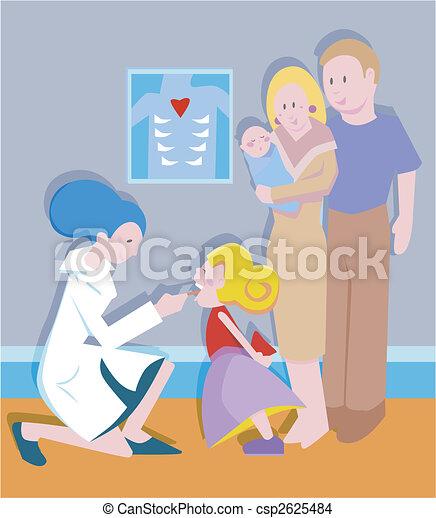tonsil exam - csp2625484