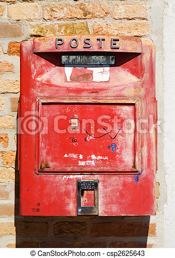 Old red mail box - csp2625643