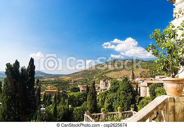 Traditional Toscana Italy landscape - csp2625674