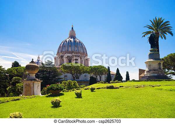 Saint Peter cathedral in Rome Italy - csp2625703