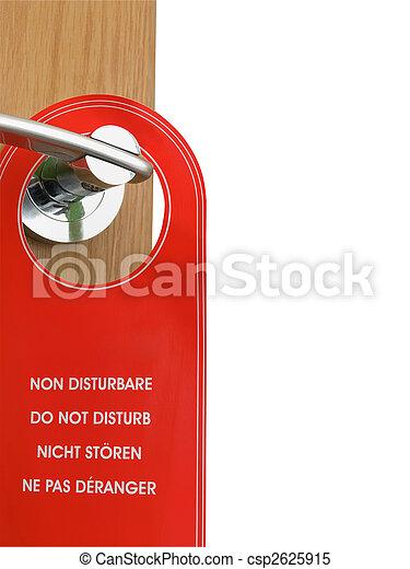 do not disturb sign hanging on the door handle  - csp2625915