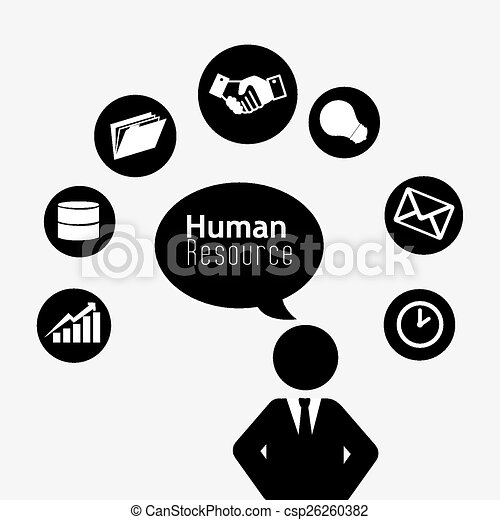 Human Resources Vector Human Resources Over White