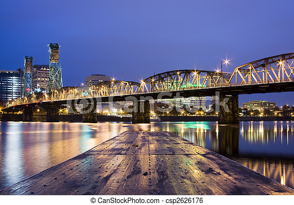 Landscape of Portland, Oregon, USA. - csp2626176