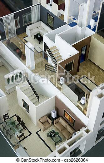 stock foto von inneneinrichtung haus modell bild von. Black Bedroom Furniture Sets. Home Design Ideas