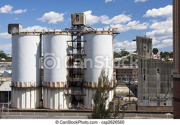 Cement Factory Silos - csp2626560