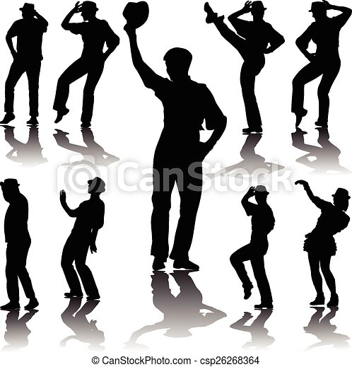 dance people with hat