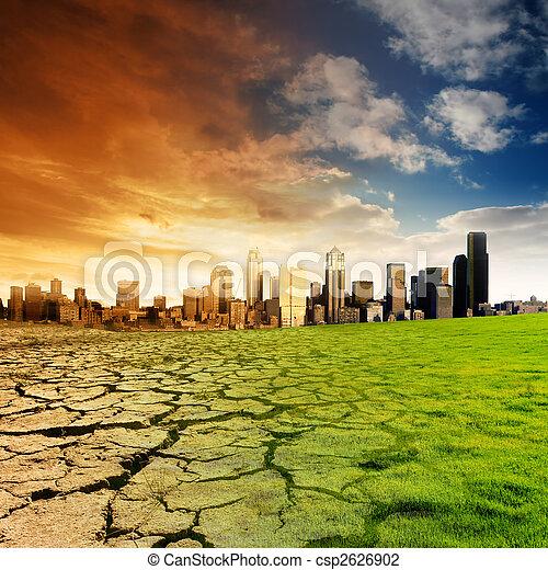 global, concepto,  warming - csp2626902