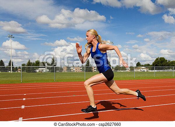 Running athlete - csp2627660