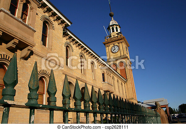 Customs House - Newcastle Australia - A prominent local landmark. - csp2628111