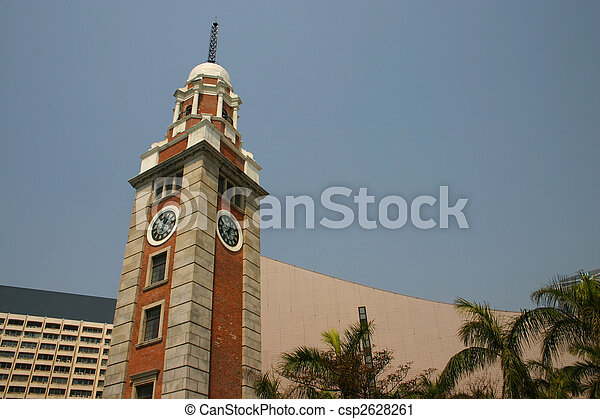 Kowloon Clocktower Hong Kong - csp2628261