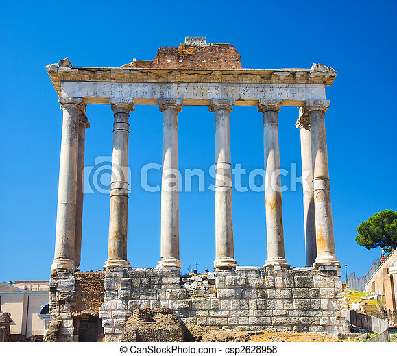 Columns on Rome Forum - csp2628958