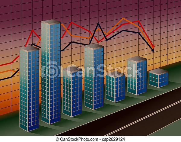 Business Bar Graph - csp2629124