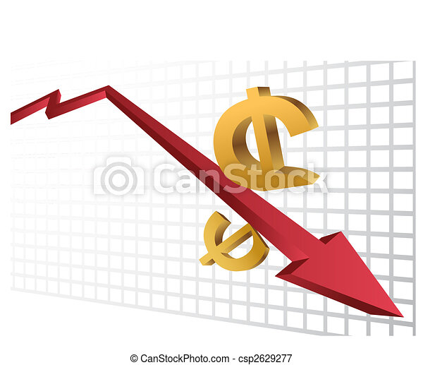 Vectors Illustration of Stock Market Crash isolated on a ...