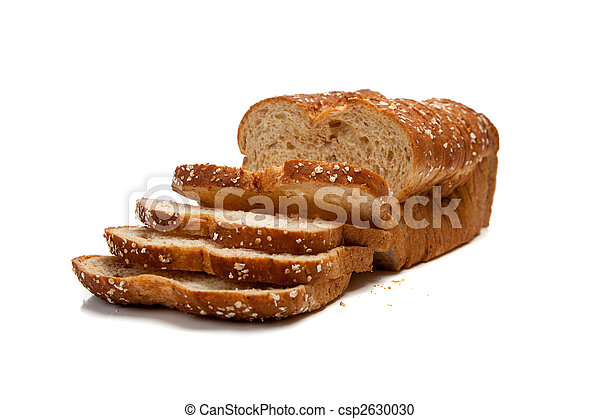 Loaf of whole grain bread - csp2630030