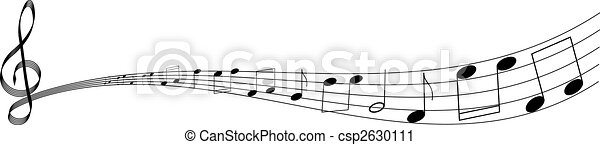 clef with notes - csp2630111