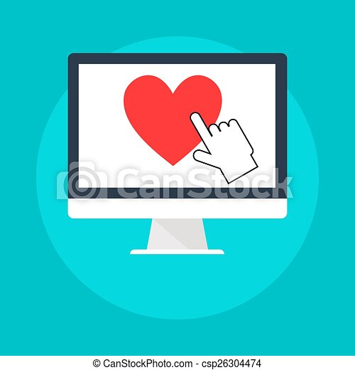 Internet dating clipart