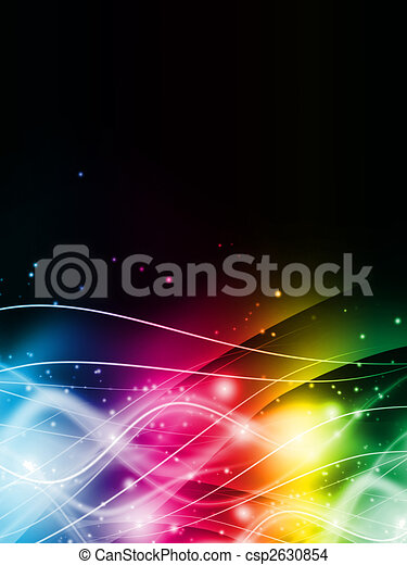 Abstract color light on black background - csp2630854