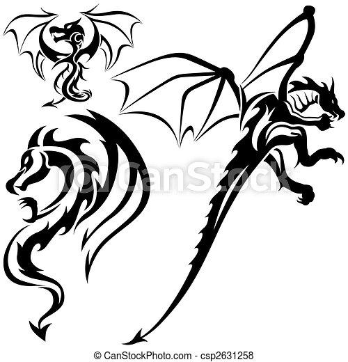 illustration de tatouage dragons tattoo dragons 07. Black Bedroom Furniture Sets. Home Design Ideas