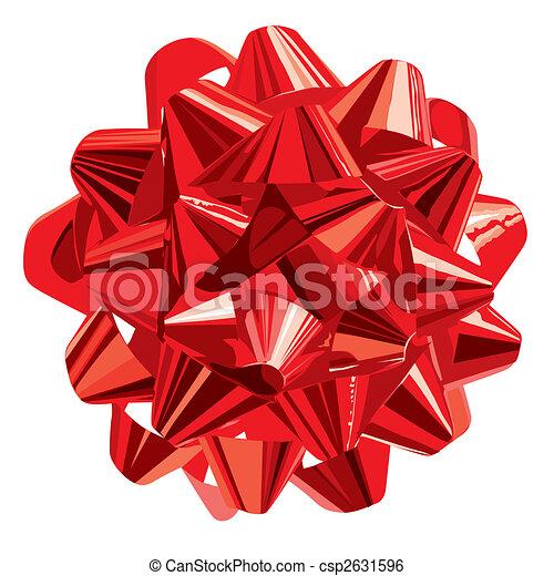 clip art vektor von geschenk vector schleife rotes geschenk schleife csp2631596 suchen. Black Bedroom Furniture Sets. Home Design Ideas