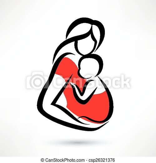 Baby Logo Vector Vector Mother Holding Baby