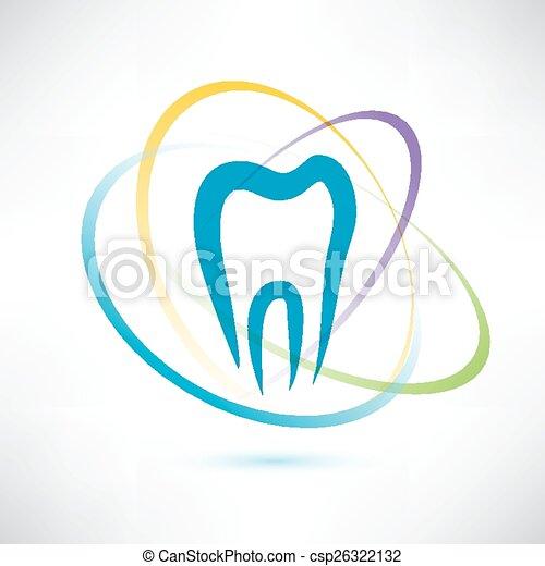 abstratos, vetorial, símbolo, proteção, dente - csp26322132