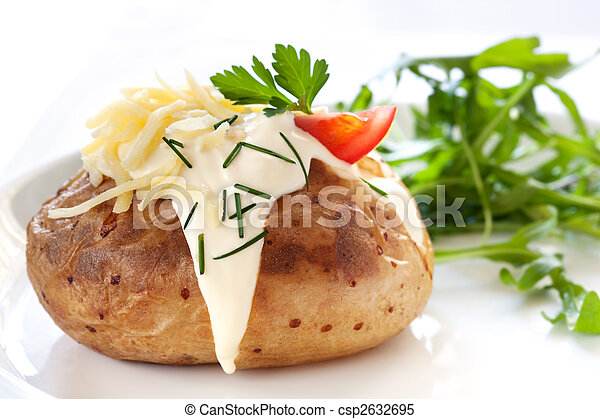 Baked Potato with Salad - csp2632695
